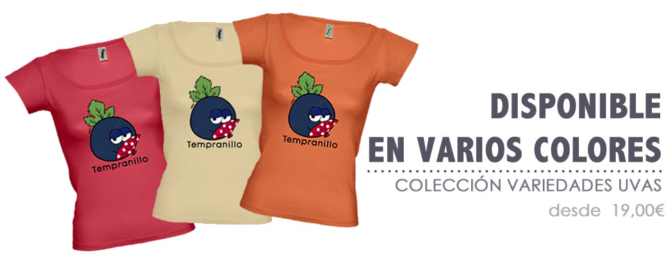 Camisetas de colores Wineys